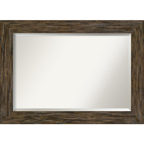 Fencepost Brown 43-Inch Wall Mirror