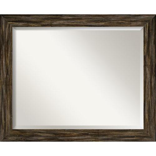 Fencepost Brown Wall Mirror