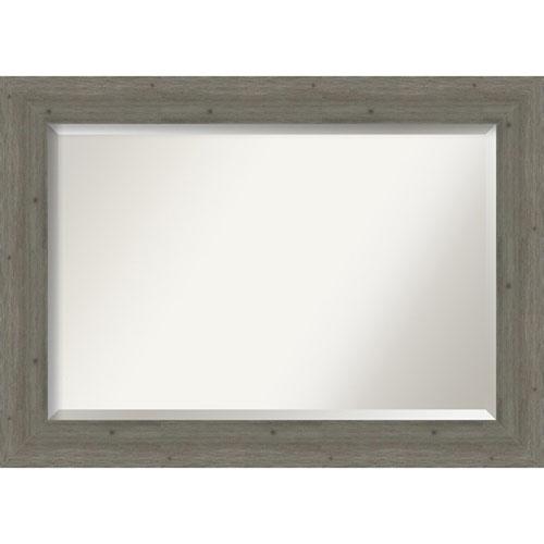 Fencepost Gray 43-Inch Bathroom Wall Mirror