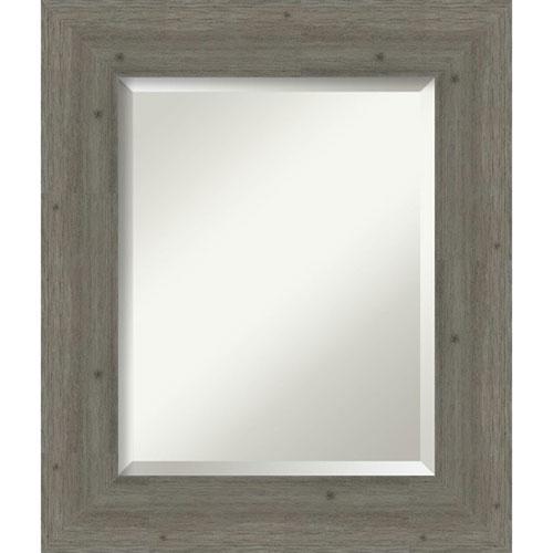Fencepost Gray 23-Inch Bathroom Wall Mirror