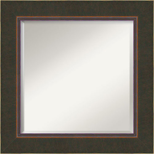 Milano Bronze 26-Inch Bathroom Wall Mirror