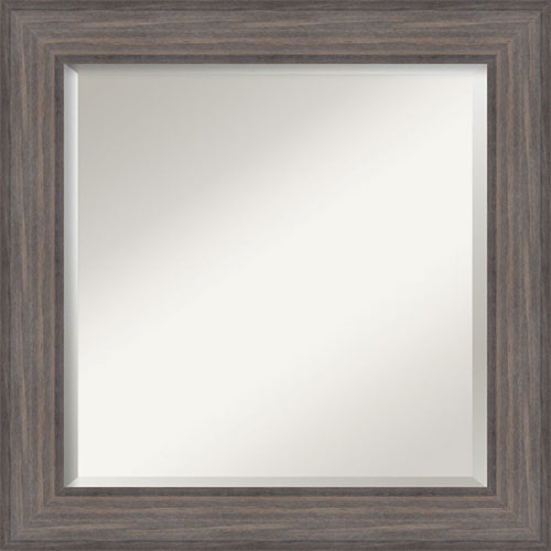 Gray 25-Inch Bathroom Wall Mirror