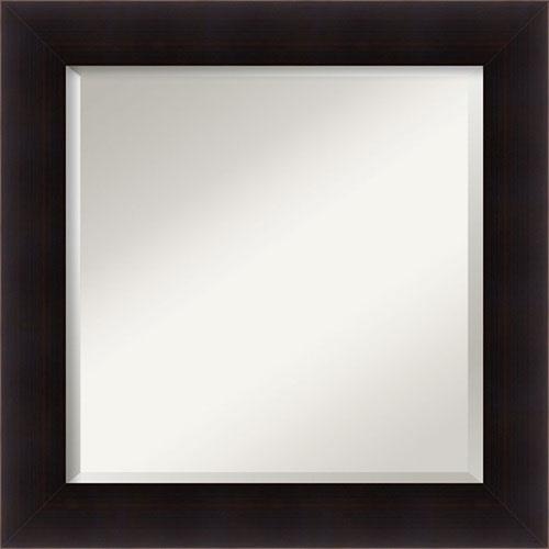 Portico Brown 26-Inch Bathroom Wall Mirror