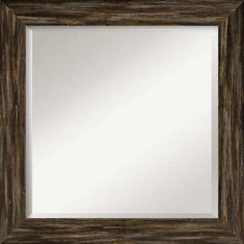 Fencepost Brown 25-Inch Narrow Bathroom Wall Mirror
