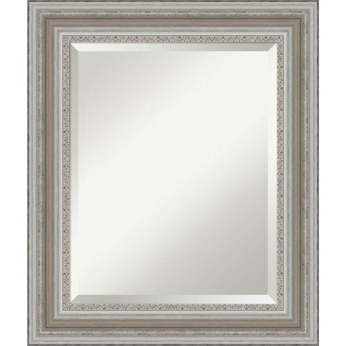 Parlor Silver 22W X 26H-Inch Bathroom Vanity Wall Mirror