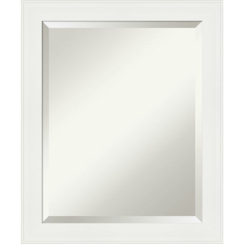 White Frame Bathroom Vanity Wall Mirror