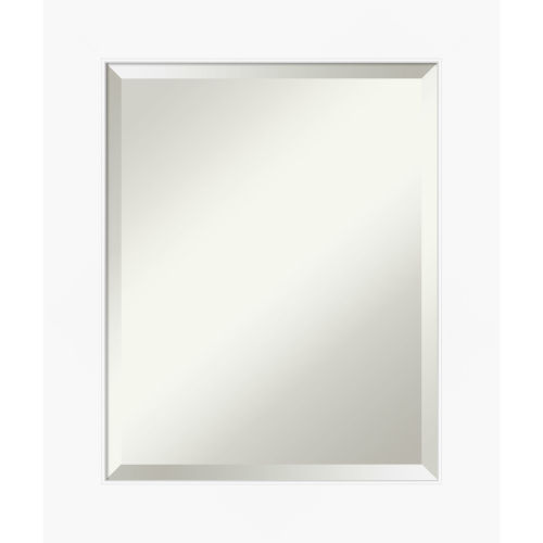 White 21W X 25H-Inch Bathroom Vanity Wall Mirror