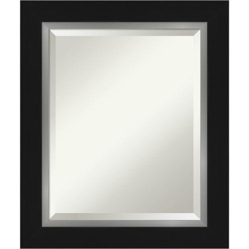 Eva Black and Silver Bathroom Vanity Wall Mirror