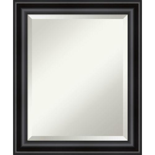Black 20W X 24H-Inch Bathroom Vanity Wall Mirror