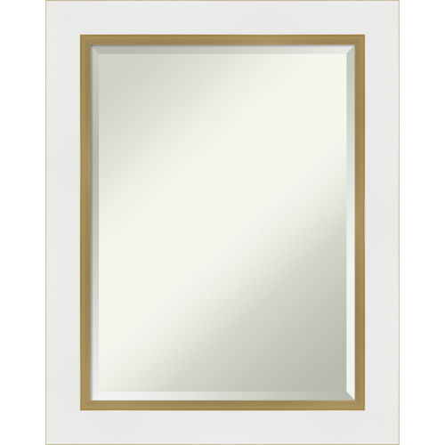 Eva White and Gold Bathroom Vanity Wall Mirror