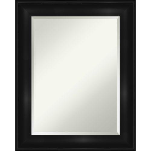 Black 24W X 30H-Inch Bathroom Vanity Wall Mirror