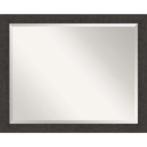 Espresso Frame Bathroom Vanity Wall Mirror