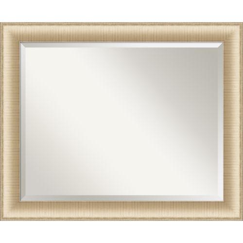 Elegant Brushed Honey Bathroom Vanity Wall Mirror