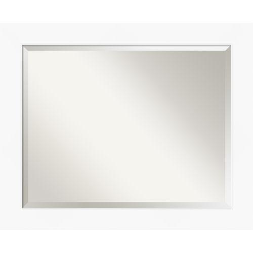 White 33W X 27H-Inch Bathroom Vanity Wall Mirror