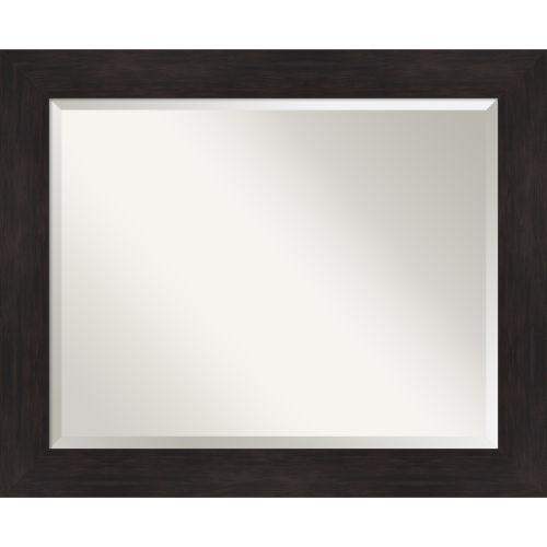 Espresso 33W X 27H-Inch Bathroom Vanity Wall Mirror