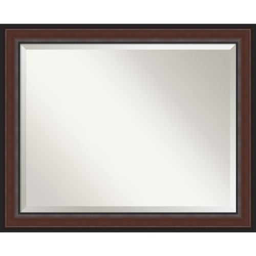 Harvard Walnut 33W X 27H-Inch Bathroom Vanity Wall Mirror