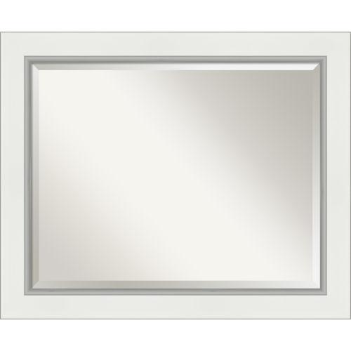 Eva White and Silver Bathroom Vanity Wall Mirror