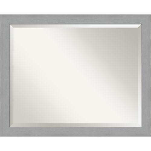 Brushed Nickel 32W X 26H-Inch Bathroom Vanity Wall Mirror
