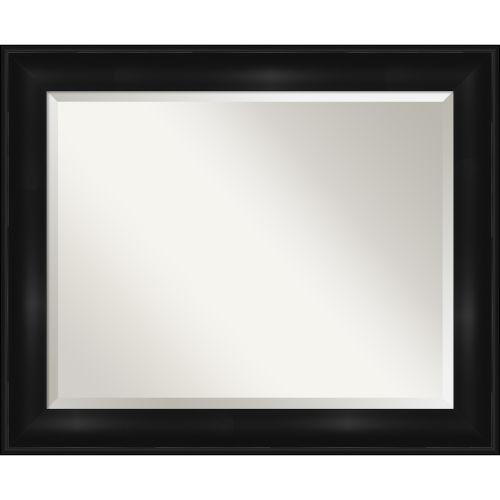 Black 34W X 28H-Inch Bathroom Vanity Wall Mirror