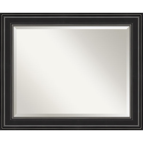 Ridge Black 34W X 28H-Inch Bathroom Vanity Wall Mirror