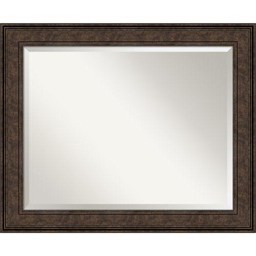 Ridge Bronze 34W X 28H-Inch Bathroom Vanity Wall Mirror
