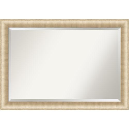Elegant Brushed Honey 41W X 29H-Inch Bathroom Vanity Wall Mirror