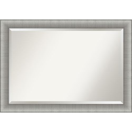 Elegant Pewter Bathroom Vanity Wall Mirror