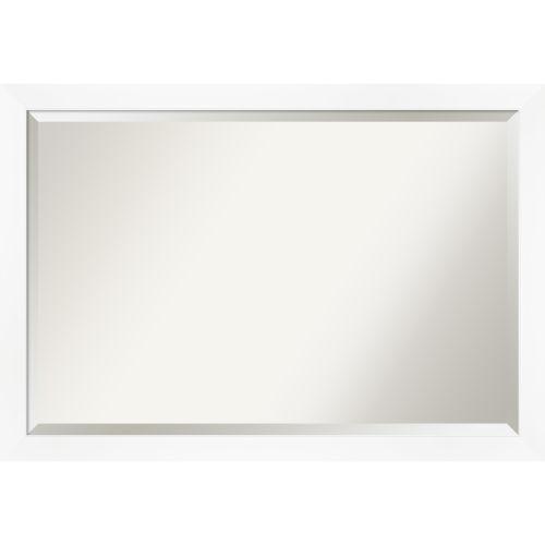 White Frame 39W X 27H-Inch Bathroom Vanity Wall Mirror
