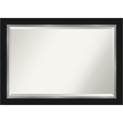 Eva Black and Silver 41W X 29H-Inch Bathroom Vanity Wall Mirror