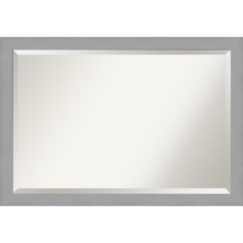Brushed Nickel Bathroom Vanity Wall Mirror