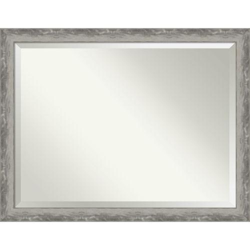 Waveline Silver 44W X 34H-Inch Bathroom Vanity Wall Mirror