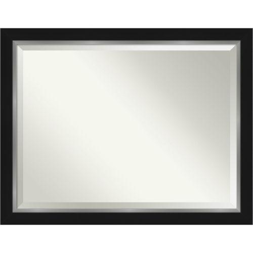 Eva Black and Silver 45W X 35H-Inch Bathroom Vanity Wall Mirror
