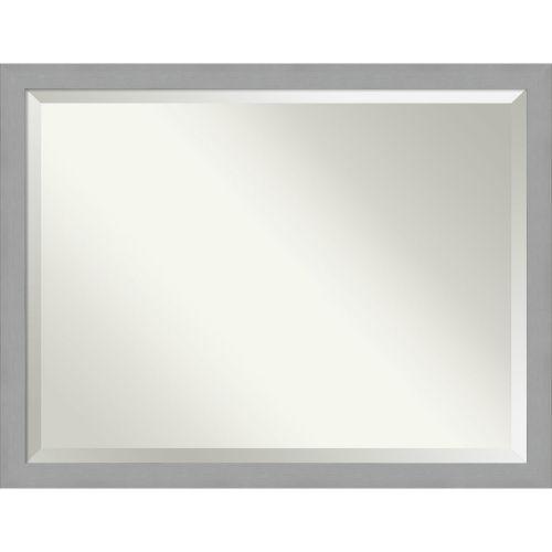 Brushed Nickel 44W X 34H-Inch Bathroom Vanity Wall Mirror