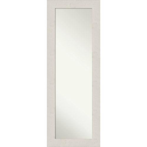 Rustic Plank White 19W X 53H-Inch Full Length Mirror