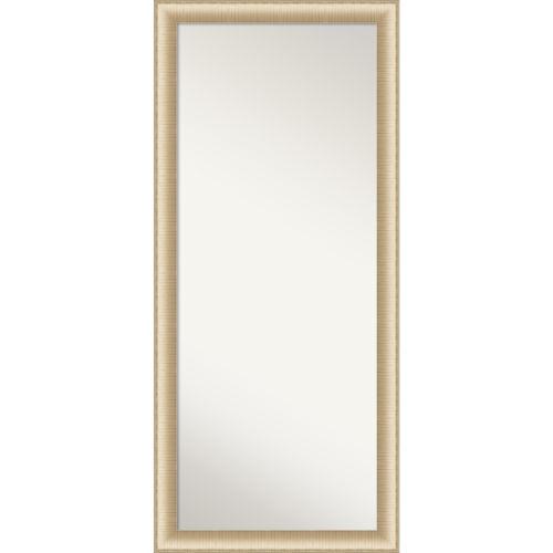 Elegant Brushed Honey 29W X 65H-Inch Full Length Floor Leaner Mirror