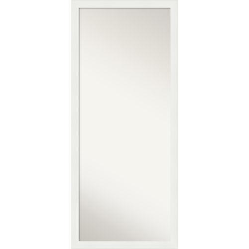 White 27W X 63H-Inch Full Length Floor Leaner Mirror