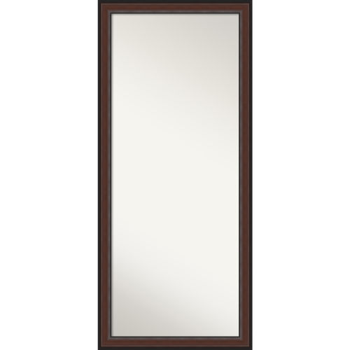 Harvard Walnut 29W X 65H-Inch Full Length Floor Leaner Mirror