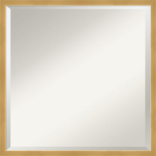 Polished Brass and Gold 21W X 21H-Inch Decorative Wall Mirror