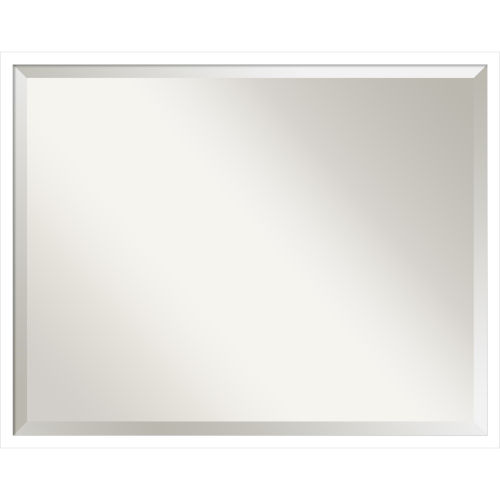 Svelte White Bathroom Vanity Wall Mirror