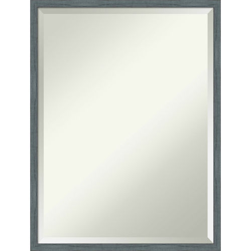 Dixie Blue and Gray 19W X 25H-Inch Bathroom Vanity Wall Mirror