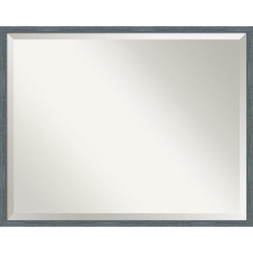 Dixie Blue and Gray Bathroom Vanity Wall Mirror