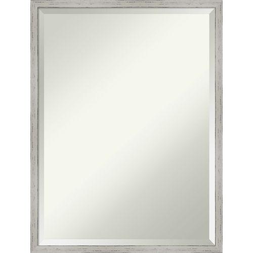 Shiplap White 19W X 25H-Inch Bathroom Vanity Wall Mirror