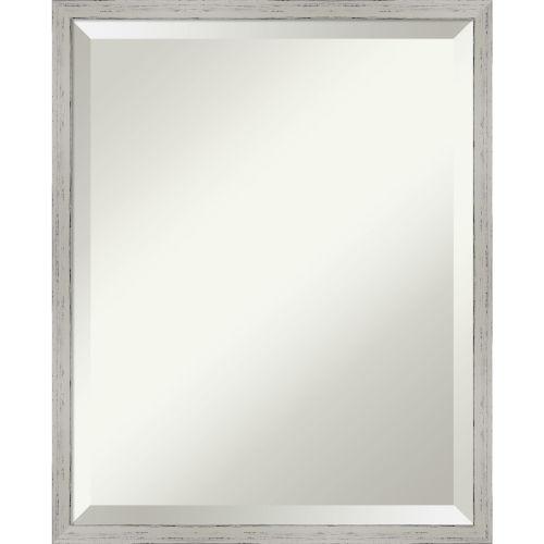 Shiplap White 17W X 21H-Inch Bathroom Vanity Wall Mirror
