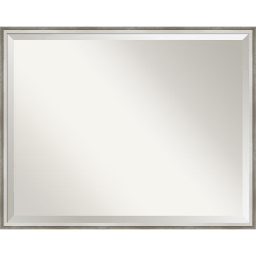 Lucie White and Silver Bathroom Vanity Wall Mirror