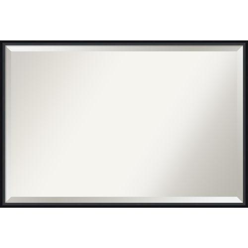 Lucie Black 37W X 25H-Inch Bathroom Vanity Wall Mirror