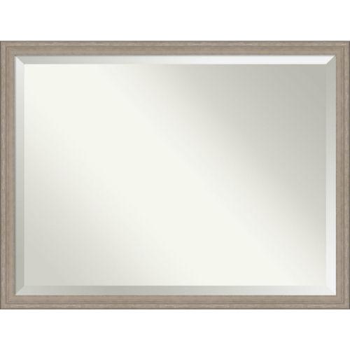 Gray Frame 43W X 33H-Inch Bathroom Vanity Wall Mirror