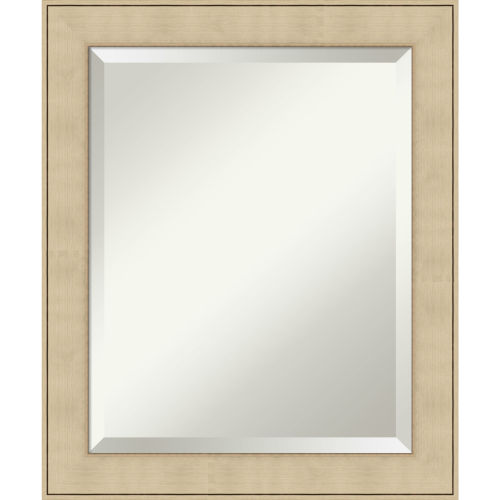 Honey and Silver 20W X 24H-Inch Bathroom Vanity Wall Mirror