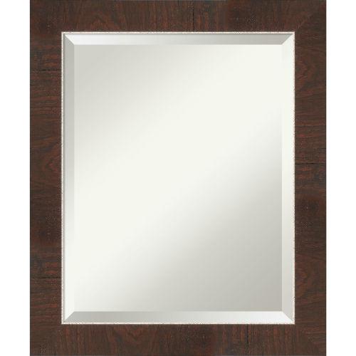 Wildwood Brown 20W X 24H-Inch Bathroom Vanity Wall Mirror
