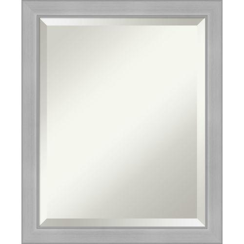 Vista Brushed Nickel Bathroom Vanity Wall Mirror