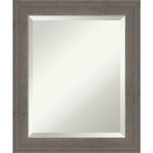 Alta Brown and Gray 21W X 25H-Inch Bathroom Vanity Wall Mirror